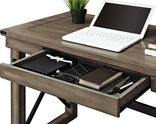 Ameriwood Home Wildwood Wood Veneer Desk Rustic Gray