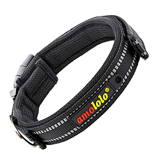 amololo Best Multi-Colored Water-Proof Breathable Reflective Dog Collar Stripe Collection with 3 Adjustable Sizes: Small, Medium, - Reflective Collar Stripe
