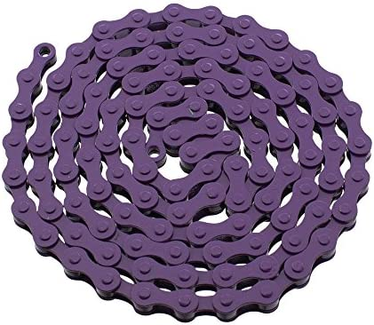 YBN S410 Bicycle Chain 1-Speed, 1//2 x 1//8-Inch, 112L Two Tone Various Colors