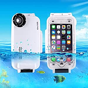L.L.BEAR HAWEEL for iPhone 6 Plus & 6s Plus 40m Waterproof Diving Housing Photo Video Taking Underwater Cover Case ( Color : White )