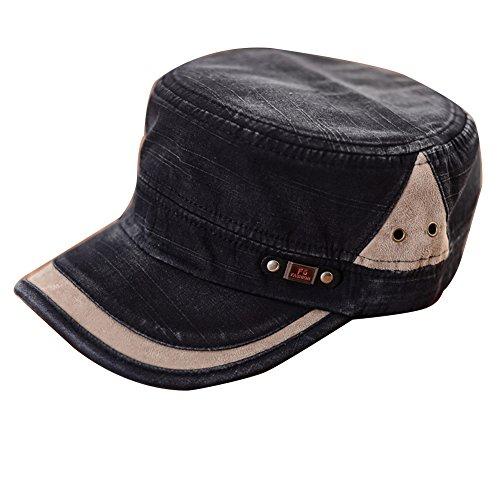 Etosell Men Women Adjustable Army Plain Vintage Hat Cadet Military Baseball (Vintage Army Hat)
