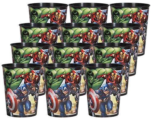 (Marvel Avengers Birthday Party Supplies Set of 12 16oz Plastic Reusable Favor)