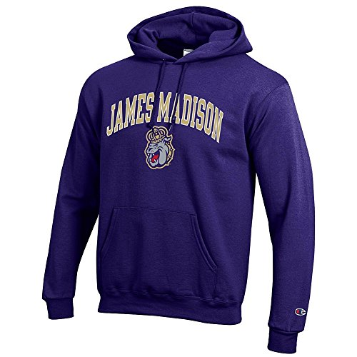 Elite Fan Shop NCAA James Madison Dukes Men's Team Color Hoodie Sweatshirt, Purple, X-Large