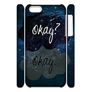 Cell phone 3D Bumper Plastic Case Of Okay Okay For iPhone 5C