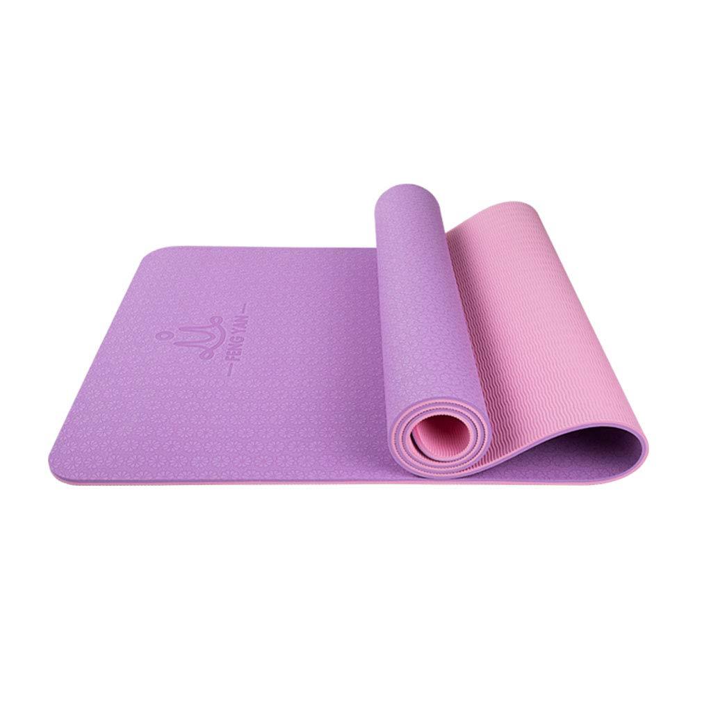 SXXDERTY-tappeto Estera de Yoga Bicolor con cinturón y Bolsa ...