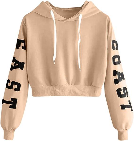 Sweatshirt Rayé Femme,SANFASHION Crop Tops
