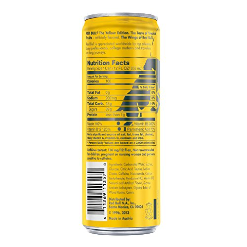 red bull yellow edition tropical energy drink 12 fl oz. Black Bedroom Furniture Sets. Home Design Ideas
