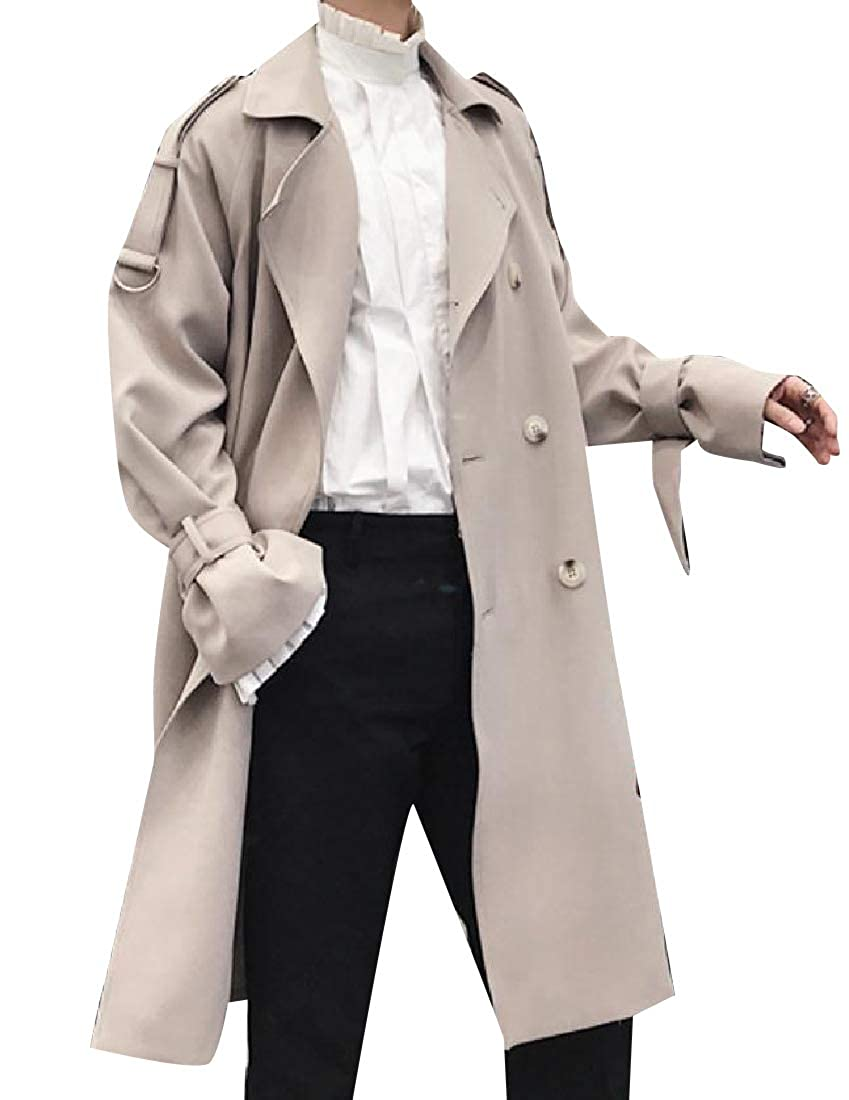Coolred-Men Retro Style Casual Loose Double Breasted Duster Coat