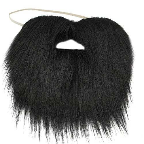Black Beard - Black Beard Costume - Pirate Beard - Fake Beard Black by Funny Party Hats]()