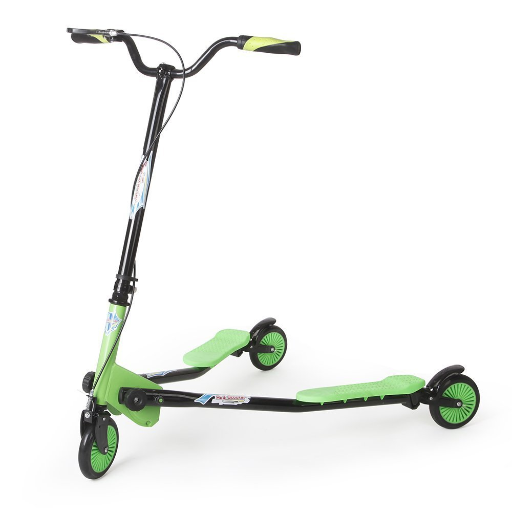 AODI 3 Wheels Scooter Swing Motion Speeder Foldable Kickboard Scooter Air Push Slider Wiggle Scooter for over 7 Year Older - Multiple Colors