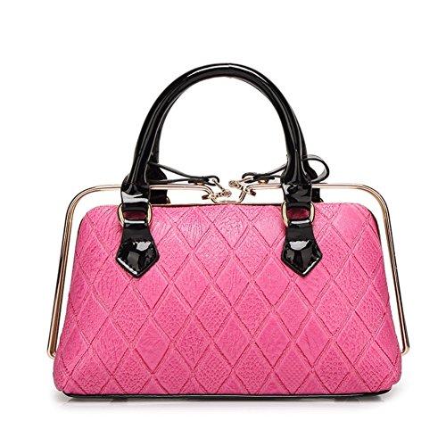 Women's Vertical PU Leather Top Handle Shopping Shoulder Bag(camel) - 3