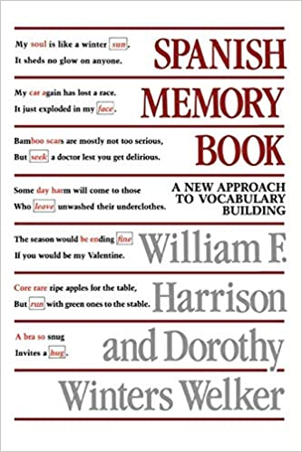 Amazon com: Spanish Memory Book: A New Approach to Vocabulary