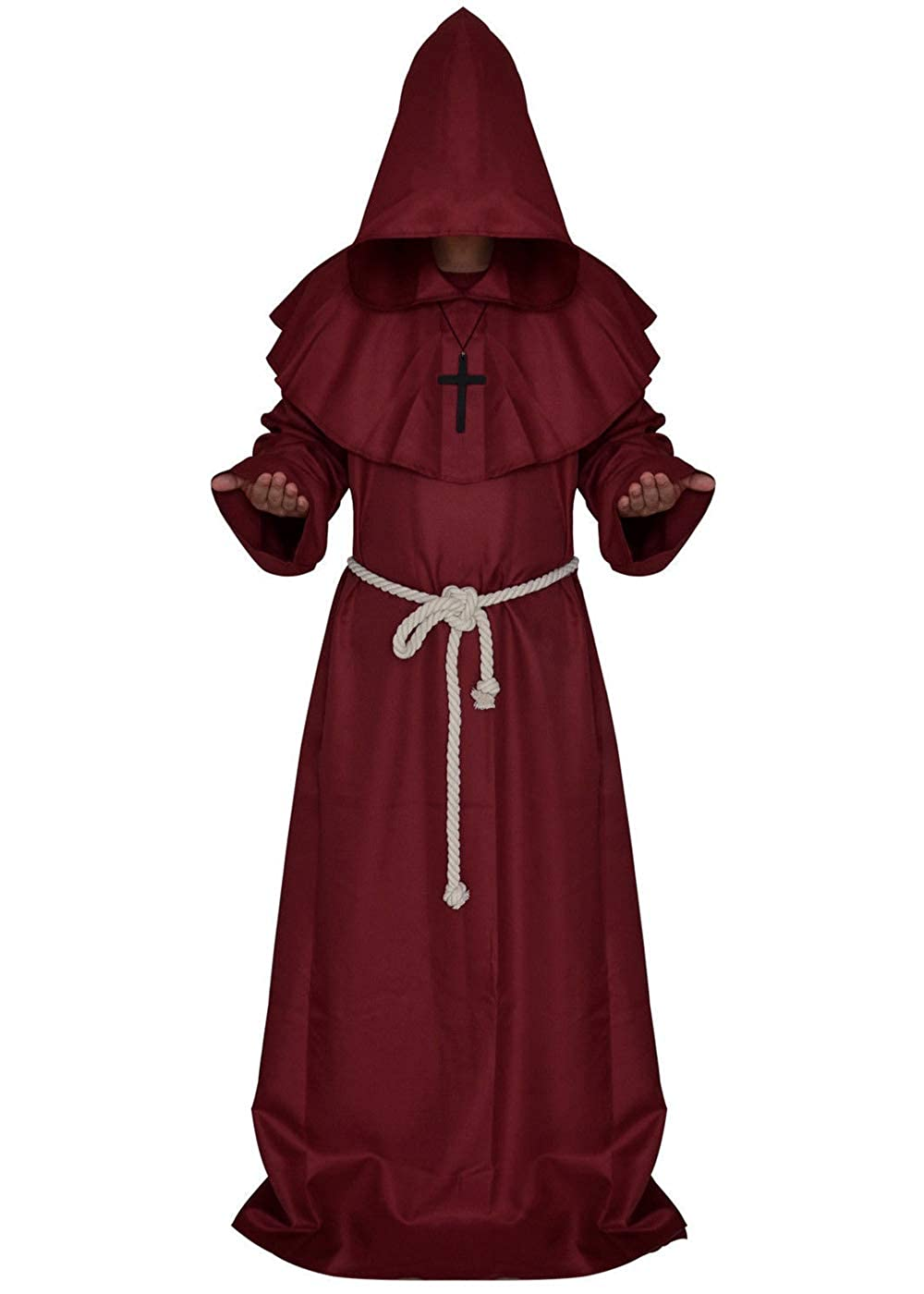 Hooded Gown Cape Cape Monk Medieval Renaissance Priest Costume Cosplay Fashion