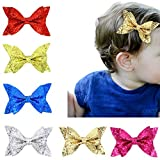 Cici Store Baby Girls Large Glitter Bowknot Hair Clips,Kids Sequins Hairpin Barrette For Christmas Birthday Party Hair Accessories