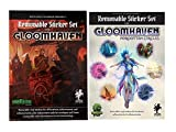 Gloomhaven Removable Sticker Set Bundle with Gloomhaven Sticker Set and Expansion Forgotten Circles Sticker Set by Cephalofair Games and Sinister Fish Games (2 Items)