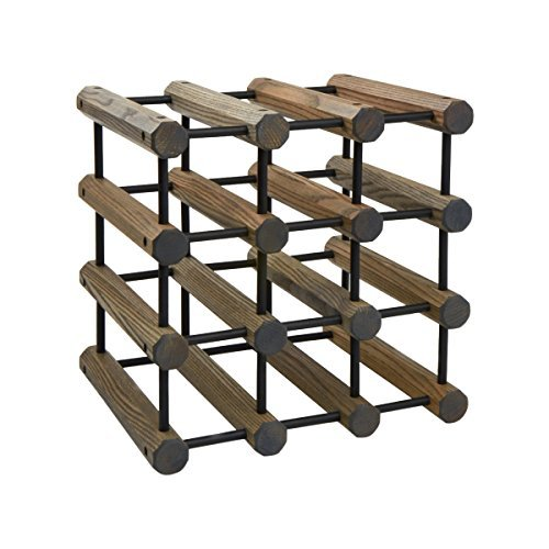 J.K. Adams 12 Bottle Wine Storage Rack, Driftwood by J.K. Adams made in New England