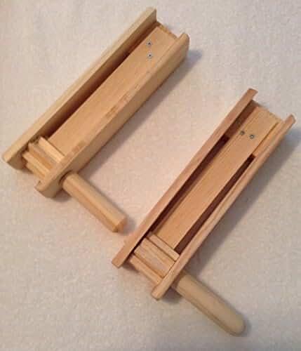 2Medium Eardrum Loud Wood Noisemaker Grogger Matraca Ratchet Soccer Clapper 11 inches long