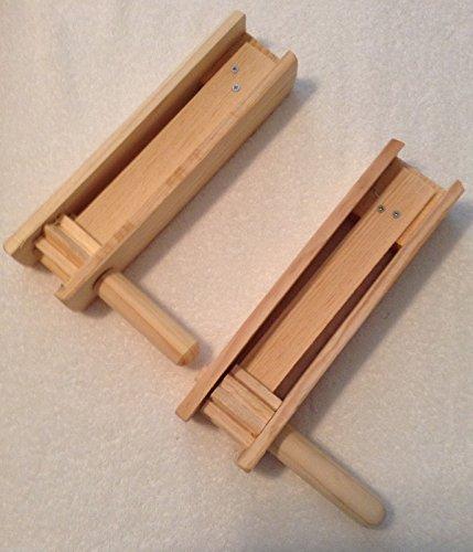 2Medium Eardrum Loud Wood Noisemaker Grogger Matraca Ratchet Soccer Clapper 11 inches long (Football Noisemaker)