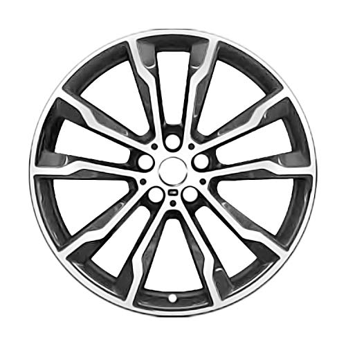 Multiple Manufactures ALY86361U30 Charcoal Gray Wheel with Machined and Meets All Federal Motor Safety Standards (20 x 9.5 inches /5 x 120 mm, 43 mm Offset)