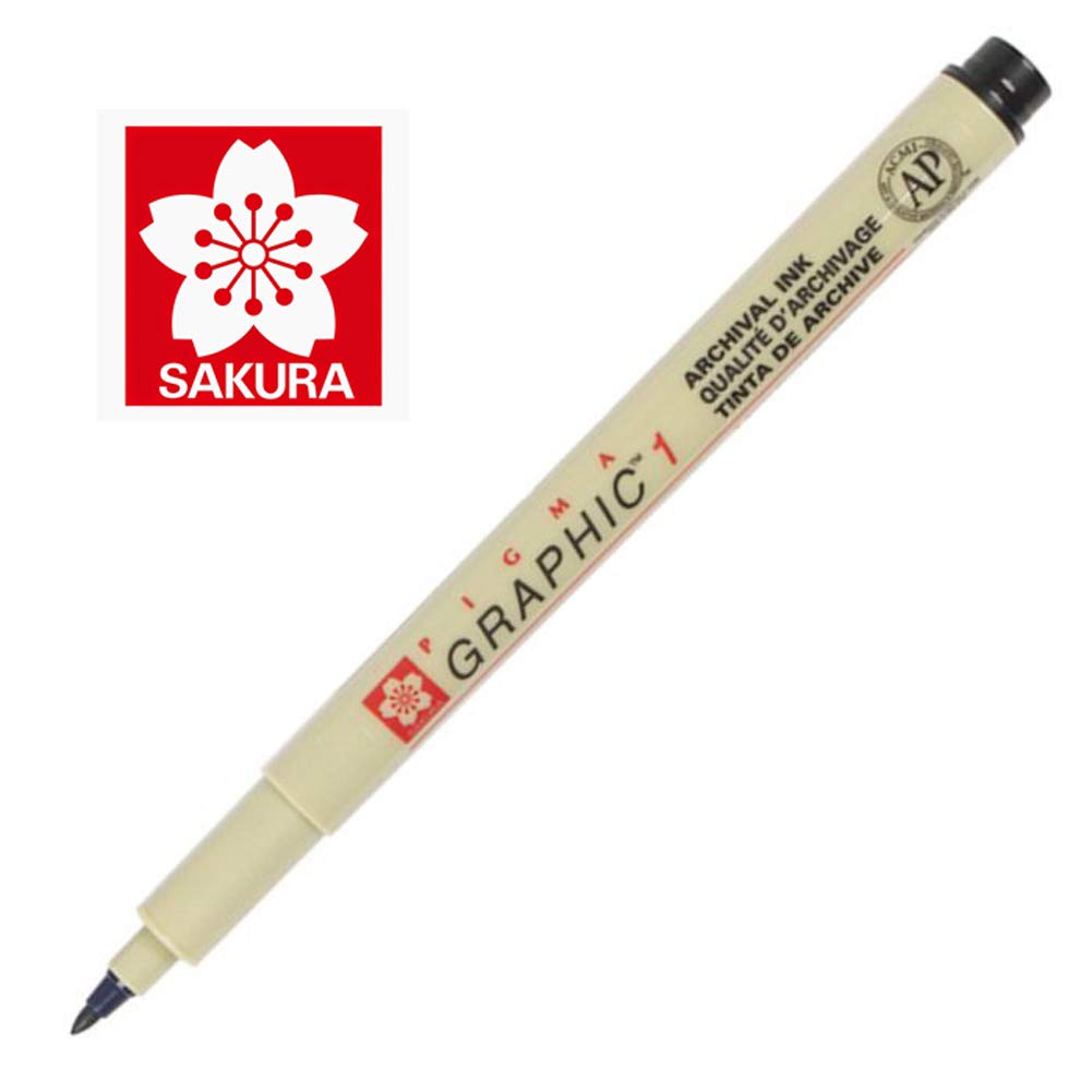 Sakura Pigma Graphic Pen 1.0 mm [Paquete de 12]