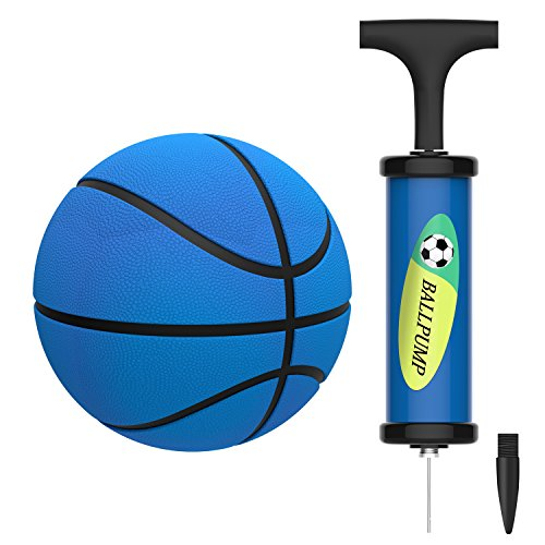 Mini Basketball,HUNFS 5 Inch Small Basketball Water Ball for Kids with Soft and Bouncy +Bright Color+Environmental Protection Material