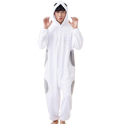 KINOMOTO Cute Anime Baymax Unisex Onesies Pajamas Cosplay Costume for Men Women Hooded Plush Sleepwear (L)