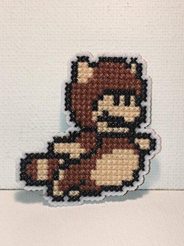 Tanooki Mario Cross Stitched Magnet