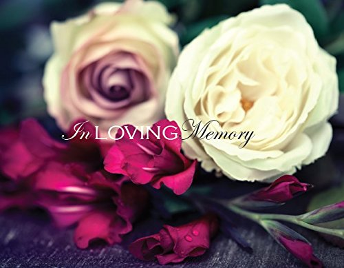 In Loving Memory Funeral Guest Book, Memorial Guest Book, Registration Book, Condolence Book, Remembrance Book, Contemporary Matte Finish, Hard Cover