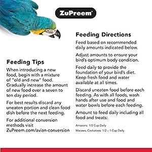 Zupreem – Comida para pájaros Grande, 3 Libras
