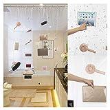 Jasontric Clear Shower Curtain Liner, Transparent Waterproof Bathroom Curtains Liner 17 Pockets Phone iPad Tablet Holder