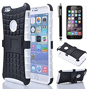 """iPhone 6 Plus Case, iPhone 6(5.5"""") Case, SUPWISER Hybrid Case for iPhone 6 with Dual Layer Holster & Kickstand"""