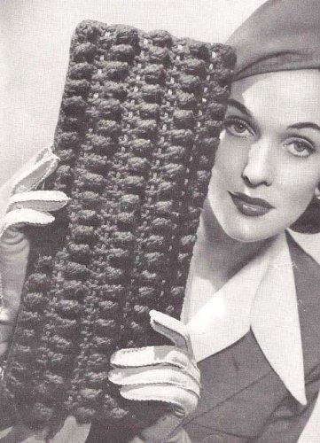 Wool Hand Crocheted - Wool Bag No. 4806 Croochet Purse Handbag Crocheted Bag Pattern