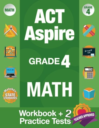 New Used Books Act Aspire Grade 4 Math Workbook And 2 Act Aspire