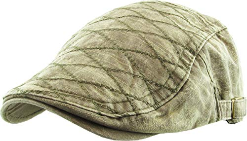 KBM-209 BRN Quilted Cotton Newsboy Ivy Cabbie Hat Cap