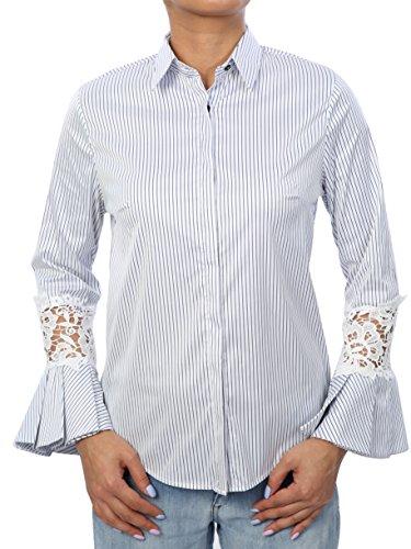 DI'SHE by SMC - Camisas - para mujer Weiß-Gestreift