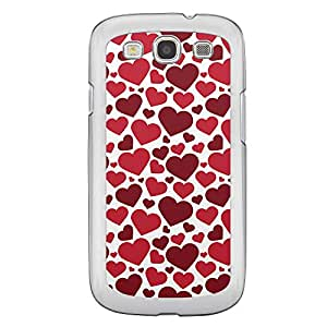 Loud Universe Samsung Galaxy S3 Love Valentine Printing Files A Valentine 63 Printed Transparent Edge Case - White/Red