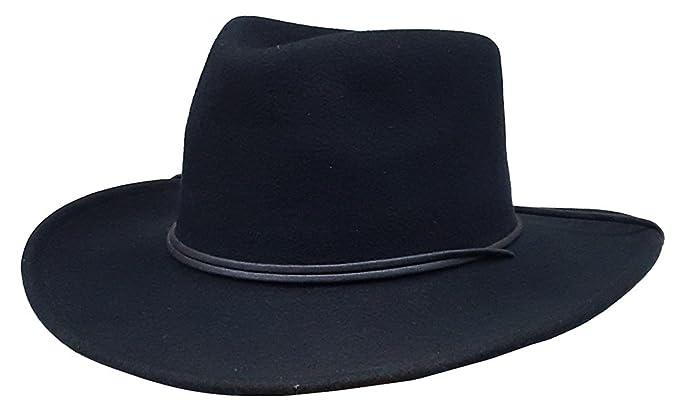 Modestone Espagnol Wool Felt Chinstring Cowboy Hat 54 Black   For Small  Heads   f52b536bc