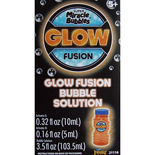 Imperial Toy Glow Fusion Bubble Solution Orange -