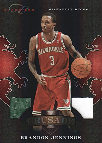 2010-11 Panini Elite Black Box Crusade Jersey #87 Brandon Jennings 28/99 Bucks