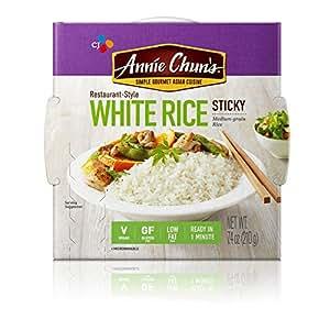 Amazon.com : Annie Chun's Cooked White Sticky Rice, Gluten