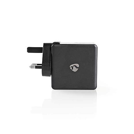 Nedis WCPD30W110BKUK Cargador de Pared | 3,0 A | USB (QC ...