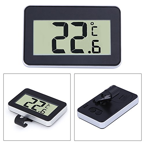 Machine Accessories Digital Lcd Thermometer Temperature Meter W/Magnet Hook For Home Office Room Kitchen Refrigerator Indoor Outdoor White/Black by Machine Accessories (Image #4)