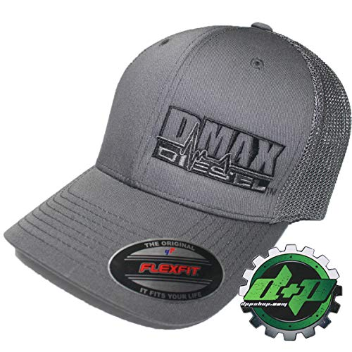 OSFM DMAX Diesel Flexfit Fitted Flex fit Ball Cap hat Chevy Duramax Charcoal
