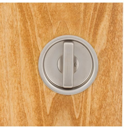 Omnia 3910 Mortise Lock for Wood Pocket Doors, Brushed Stainless Steel