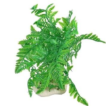 Las plantas jardin emulational Coco ÁRBOL DE NAVIDAD para el acuario, de 12 pulgadas de altura, verde: Amazon.es: Productos para mascotas