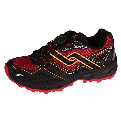 PRO TOUCH Chaussures de Trail de running ridger toprunner IV AQB, noir/rouge/orange, 35