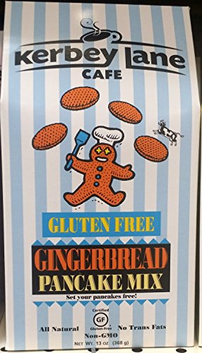 Kerbey Lane Gluten Free Gingerbread Pancake Mix 13 oz (Pack of (Gingerbread Pancake)