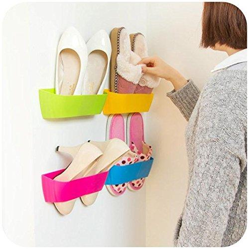 DIY Paste Three-Dimensional Super Glue Hanging-Shoe Shelf Rack Wall Bureau Storage Box (Random: (Halloween Stors)