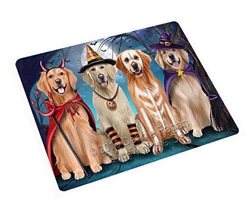 Happy Halloween Trick or Treat Golden Retriever Dog