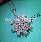 Anzona Original Custom Micro Inlaid Cz Snow Necklace Aesthetic Short Jewelry Sweater Chain Female Clavicle Chain Dress Accessories